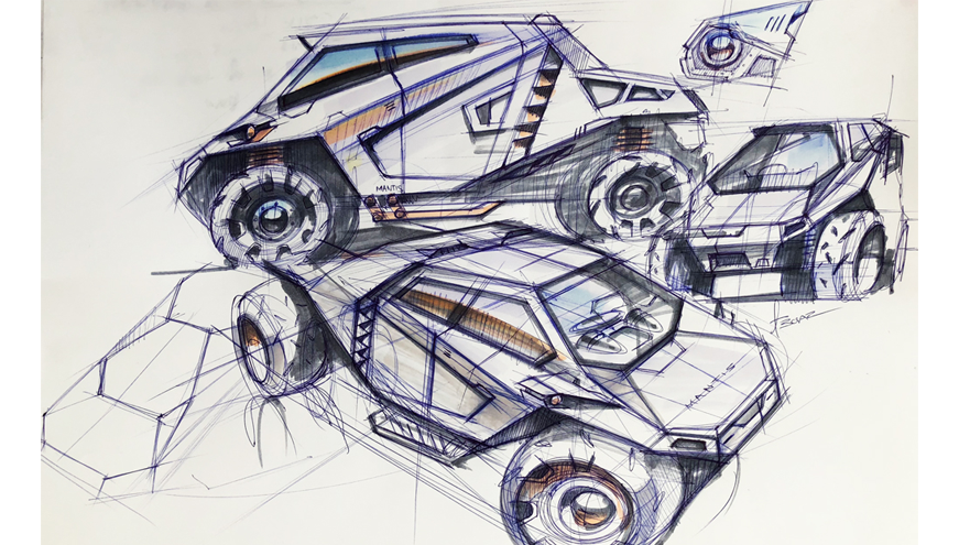 fast mantis sketch